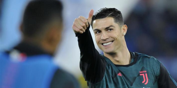 Ronaldo test negatief en hoeft niet langer in quarantaine
