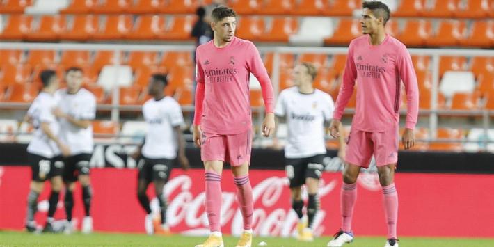 Nog een tik voor Real Madrid: Valverde door beenbreuk langszij