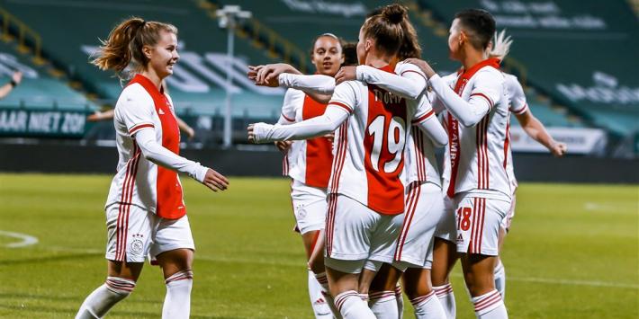 Ajax Vrouwen wint van VV Alkmaar en is winterkampioen