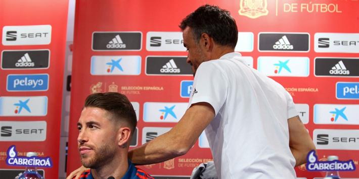 """Enrique nog altijd achter Ramos: """"Heeft geen advies nodig"""""""