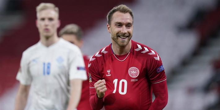 Denemarken stelt feestje België door late penalty nog even uit