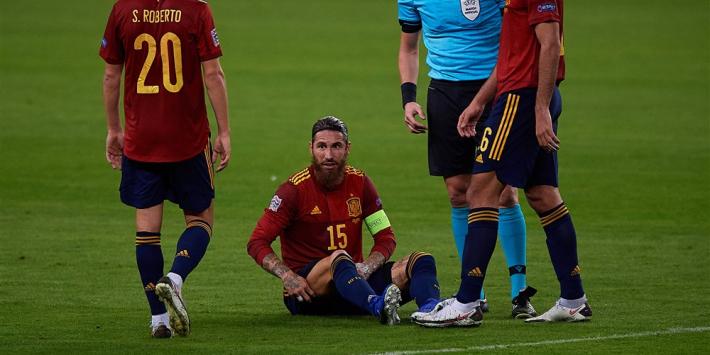 Opnieuw spierblessure in interlandbreak: Sergio Ramos tijdje 'out'