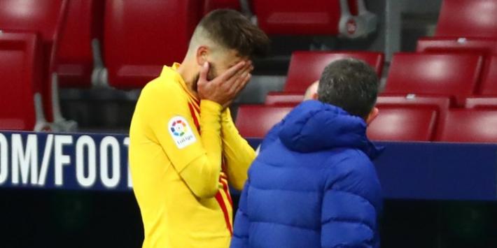 Slecht nieuws Koeman: Roberto en Piqué maanden langszij