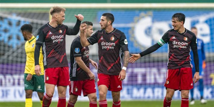 Tiental Feyenoord toont karakter met zege bij Fortuna Sittard: 1-3