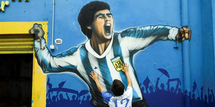 Enorme drukte: Argentijnen massaal op de been voor Maradona