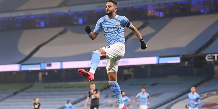 Manchester City overklast Burnley in grote Mahrez-show