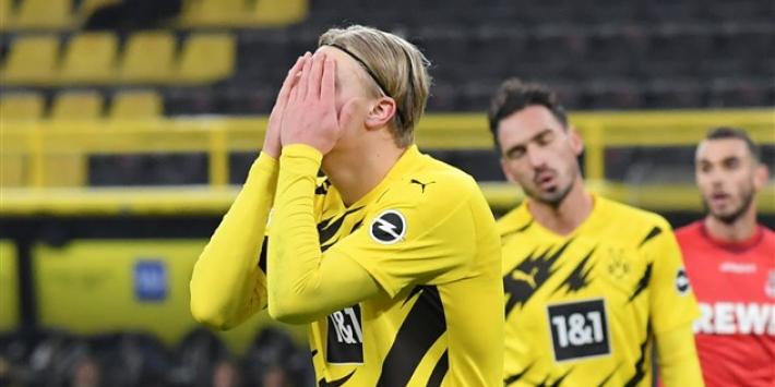 Video: doelpuntengod Haaland mist voor open goal