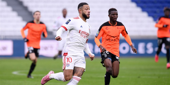 Lyon en Memphis raken in spoor PSG na zege op Sierhuis