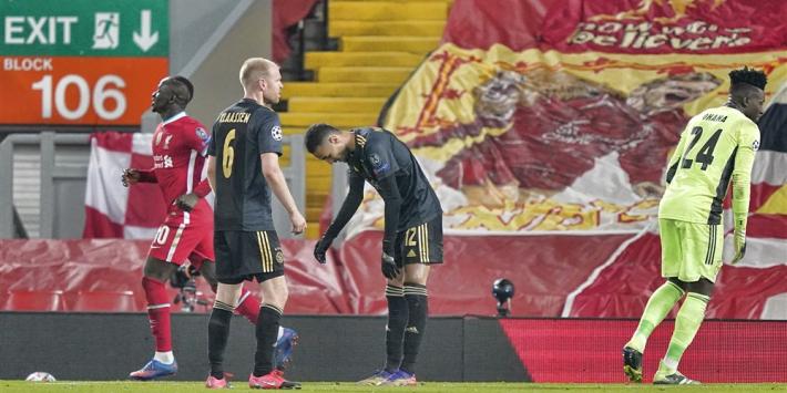 Ajax komt fout van Onana niet te boven en verliest van Liverpool