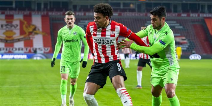 Zieke Max ontbreekt bij PSV, Malen op de bank