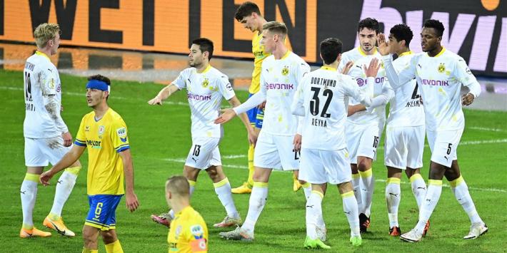 Dortmund imponeert niet, maar gaat wel door in de beker