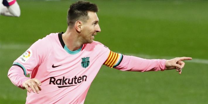 Messi neemt record over van Pelé en helpt Barça aan winst