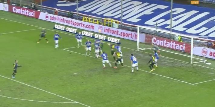 Video: knappe kopbal De Vrij brengt Inter terug in de wedstrijd