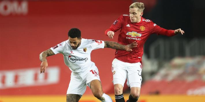 Basisklant Van de Beek bekert verder met Manchester United