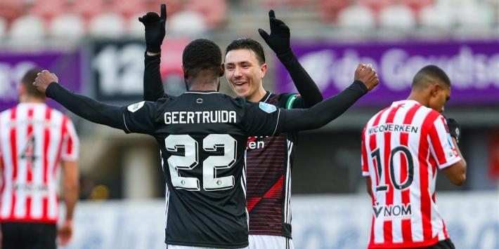 Feyenoord start 2021 met zeer moeizame derby-zege op Sparta