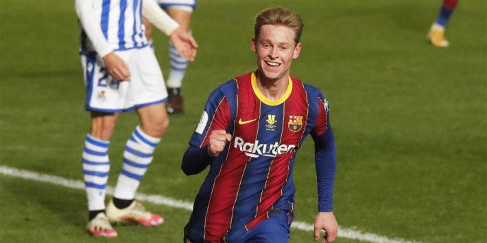 De Jong maakt door goede spel kans om mooie La Liga-prijs