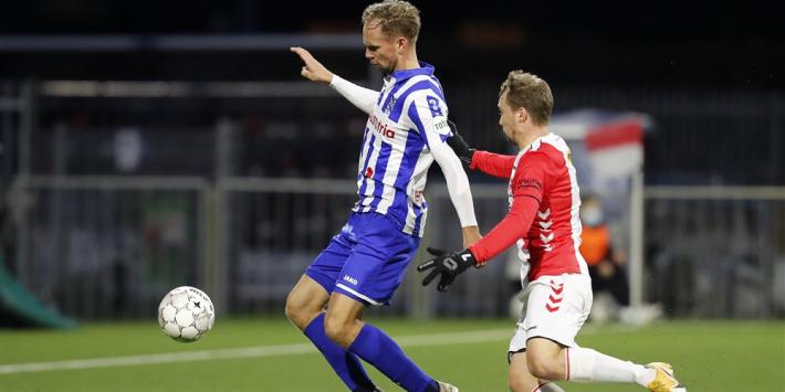 Alles gaat mis voor Emmen: Heerenveen mazzelt naar kwartfinale