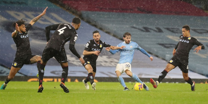 Aston Villa houdt lang stand, maar bezwijkt onder City-storm