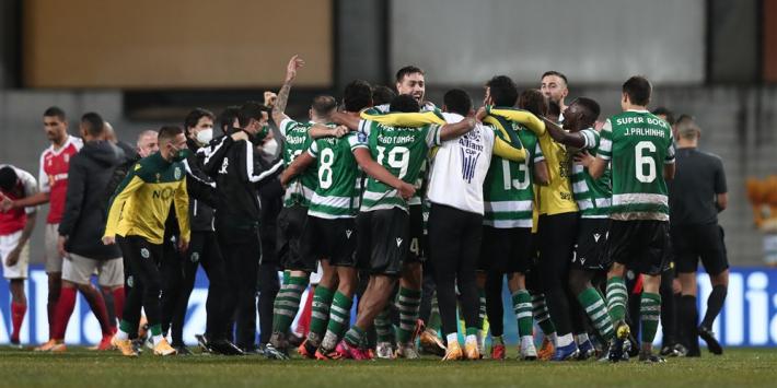 Sporting grijpt Taça da Liga na verhitte finale tegen Braga
