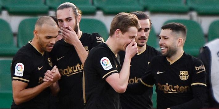 De Jong neemt Barça bij afwezigheid Messi bij de hand
