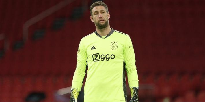 """Ajax zonder Stekelenburg, maar met Scherpen: """"Viel op zijn knie"""""""