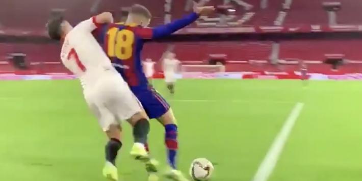 Video: FC Barcelona deelt opmerkelijk penalty-moment van Alba