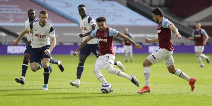Dolend Tottenham delft ook bij West Ham het onderspit