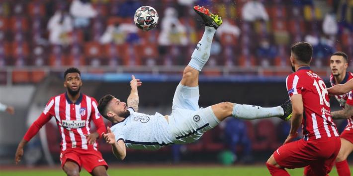 Giroud pakt hoofdrol bij belangrijke uitzege Chelsea op Atlético