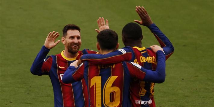 Barcelona wint eerste slag tegen Sevilla dankzij Messi