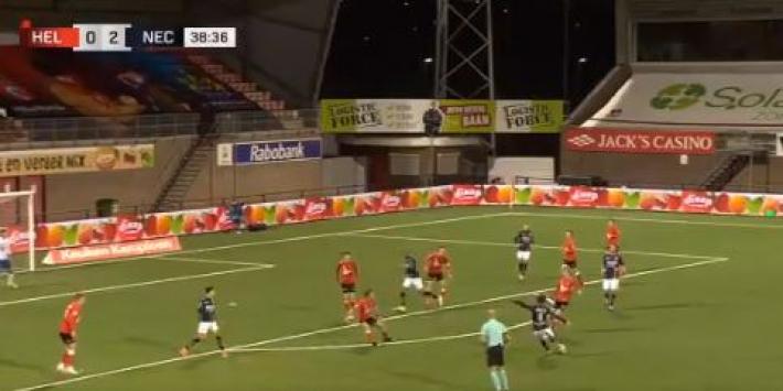Video: Bruijn jaagt bal de kruising in tijdens makkelijke avond NEC