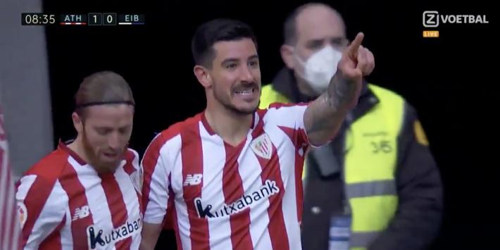 Video: Athletic Bilbao-verdediger scoort met heerlijke volley