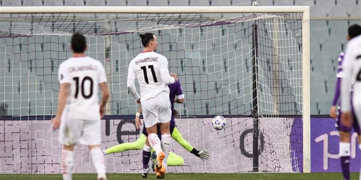 Milan blijft dankzij Ibrahimovic in spoor Inter