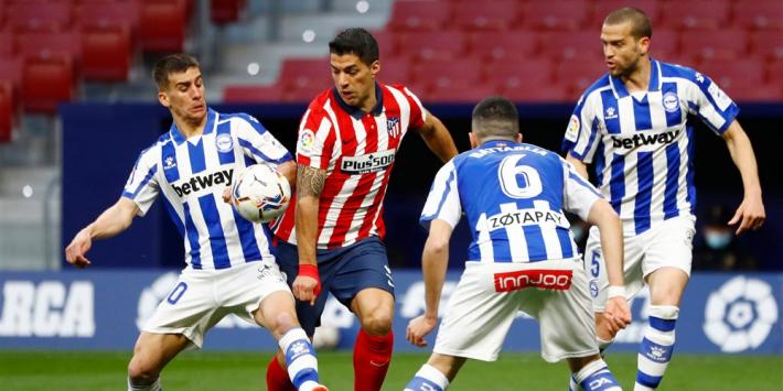 Oblak en Suárez vertolken hoofdrol bij benauwde zege Atlético