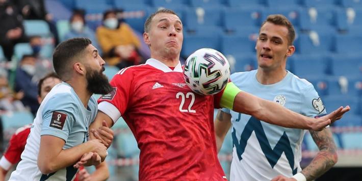 Dzyuba leidt Rusland naar tweede zege in WK-kwalificatiecylus