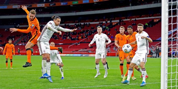 Oranje op rapport: ruime zege blijft uit tegen Letland