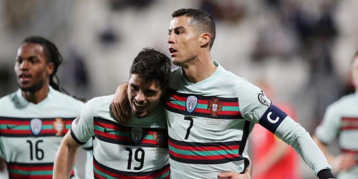 Ronaldo helpt Portugal aan benauwde zege op Luxemburg