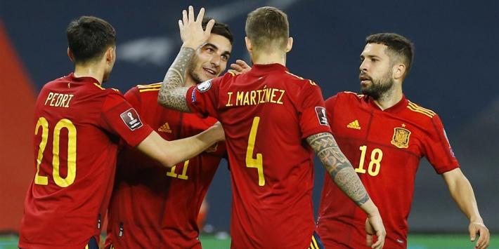Eindelijk simpele zege Spanje, ook Engeland wint