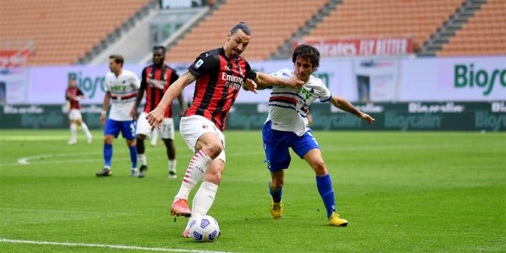 Milan speelt gelijk tegen Sampdoria en morst wederom