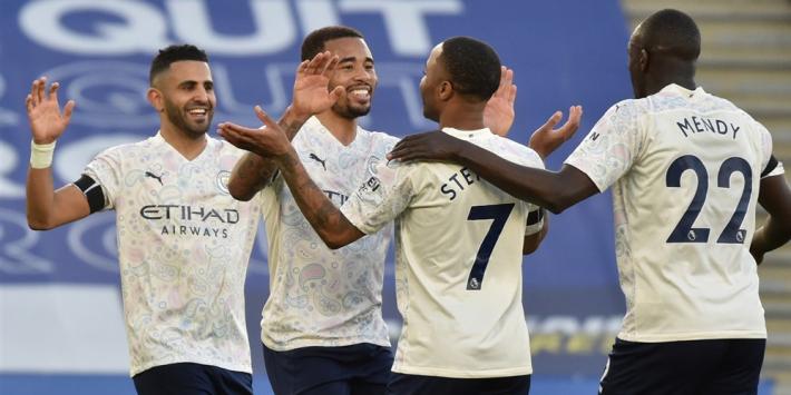 City heeft titel bijna binnen na overwinning bij Leicester