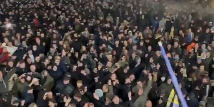 Beelden: zo vieren Cambuur-fans de promotie naar de Eredivisie
