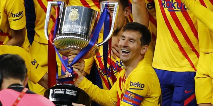 """Messi: """"Speciaal om de prijs omhoog te houden als aanvoerder"""""""