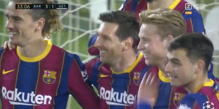 Video: Messi maakt zijn tweede van de avond en zet Barça op 3-1