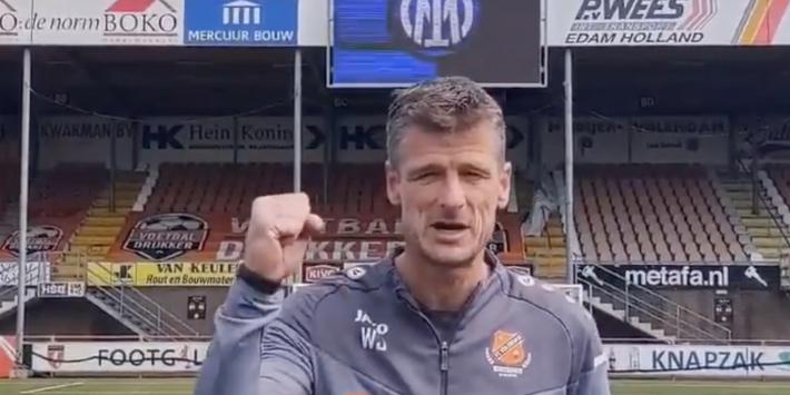 Wim Jonk gaat viraal op Twitter met felicitatie aan Inter