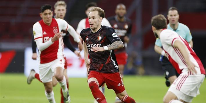 Dit zijn de vermoedelijke opstellingen van Feyenoord en Ajax