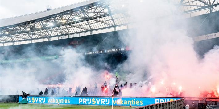 Feyenoord met zege richting play-offs met 'inbraak' van de fans