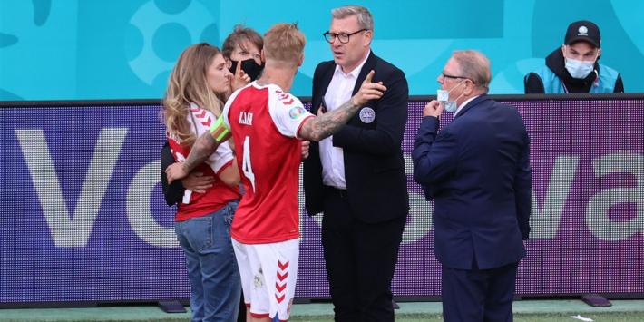 """Bondscoach Denemarken: """"Kjaer kon eigenlijk niet spelen"""""""