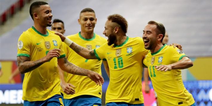 Simpele zege Brazilië op geteisterd Venezuela; Colombia wint ook