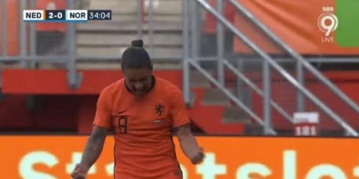 Video: Spitse schiet Oranje-vrije trap snoeihard in de kruising
