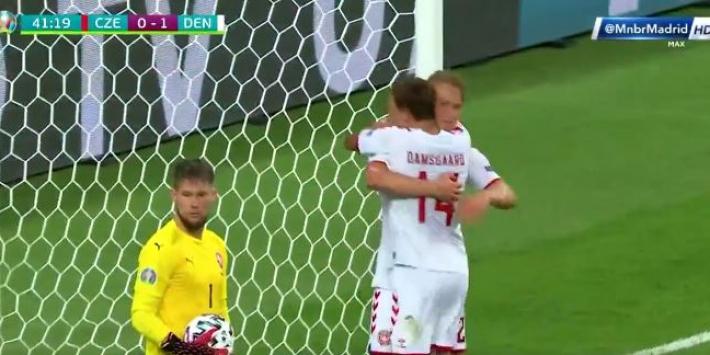 Video: Dolberg weer trefzeker na fenomenale assist Maehle