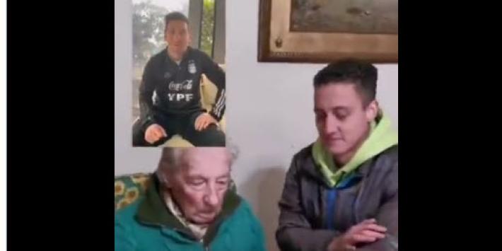 Mooie beelden na Copa-winst: Messi verrast 100-jarige fan